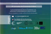 I Jornadas de Economía Feminista y XII Jornadas de Economía Crítica – Segunda Circular